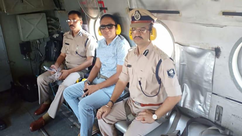 अंतिम चरण के चुनाव में सुरक्षा के पुख्ता इंतजाम, आईजी और डीआईजी ने किया हवाई सर्वे