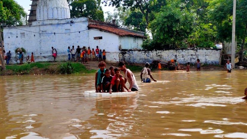 पटनासिटी के जल्ला क्षेत्र में घुसा बाढ़ का पानी, किसानों को हुआ लाखों का नुकसान