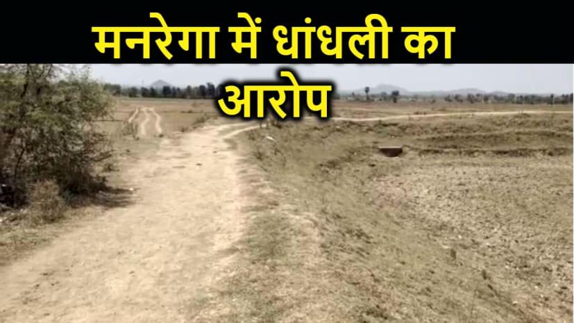 ग्रामीणों ने मनरेगा में धांधली का लगाया आरोप, उच्चस्तरीय जांच की मांग