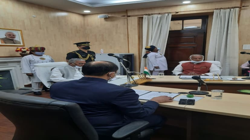 राज्यपाल फागू चौहान ने जीतन राम मांझी को प्रोटेम स्पीकर की शपथ दिलाई, पहले सत्र में सदन का करेंगे संचालन