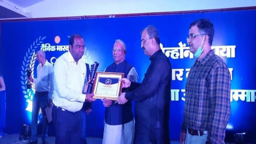 पनोरमा ग्रुप के CMD संजीव मिश्रा बिहार गौरव सम्मान-2021 से सम्मानित, तारकिशोर प्रसाद व मंगल पांडेय ने किया सम्मानित