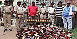 किशनगंज में पुलिस को मिली भारी सफलता, वाहन चेकिंग के दौरान बरामद की भारी मात्रा में शराब