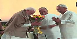 दिल्ली में अमित शाह की डिनर पार्टी, एनडीए नेताओं ने किया पीएम नरेंद्र मोदी का जोरदार स्वागत