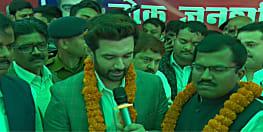 चिराग पासवान ने बिहार फर्स्ट-बिहारी फर्स्ट यात्रा की शुरुआत से पहले कई नेताओं को पार्टी की दिलाई सदस्यता