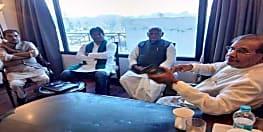 पटना के बाद दिल्ली में महागठबंधन नेताओं की मीटिंग,राजद-कांग्रेस के बिना पक रही खिचड़ी....