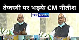 तेजस्वी पर भड़के CM नीतीश ,बिहार में रहता नहीं और फाल्तू बात सोशल मीडिया में लिखते रहता है,जीविका दीदीयों के बारे में A B C D पता है?