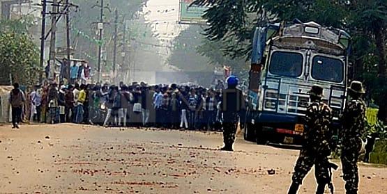 नवादा में बिहार बंद के दौरान उपद्रव, पुलिस पर पत्थरबाजी और फायरिंग, राजद ने कहा उपद्रव से लेना देना नहीं