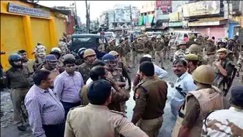 राम बारात के दौरान दो समुदायों के बीच संघर्ष, इलाके में तनाव, पुलिस बल तैनात