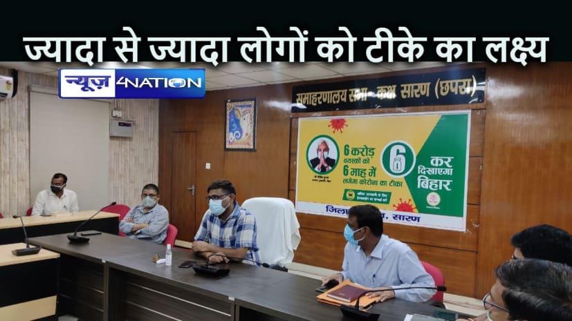 BIHAR NEWS: अब जिला मुख्यालय में सुबह 9 से रात 9 बजे तक होगा टीकाकरण, डीएम ने किया टीकाकरण केंद्र का निरीक्षण