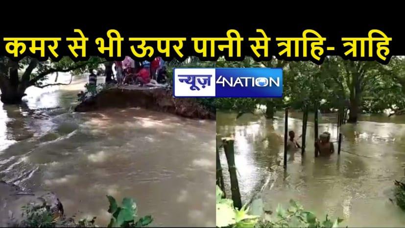 बिहार में बाढ़: बागमती नदी का जमींदारी बांध टूटा, गांव की तरफ तेजी से बढ़ रहा पानी, बांध बांधने में जुटे अधिकारी