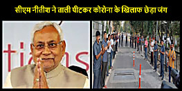 बिहार के सीएम नीतीश कुमार ने अपने आवास के गेट पर ताली पीटकर बढ़ाया कोरोना योद्धाओं का उत्साह, सुरक्षाकर्मी भी रहें  शामिल