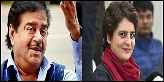 शत्रुघ्न सिन्हा को दिखी प्रियंका में इंदिरा गांधी की छवि... कांग्रेस अध्यक्ष बनाने की मांग की