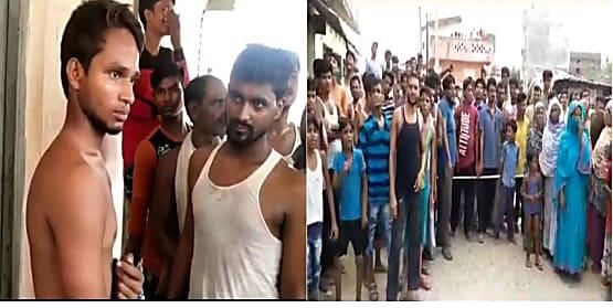 पुलिस ने घर के बाहर बैठे युवक को बेरहमी से पीटा, विरोध में स्थानीय लोगों ने किया सड़क जाम
