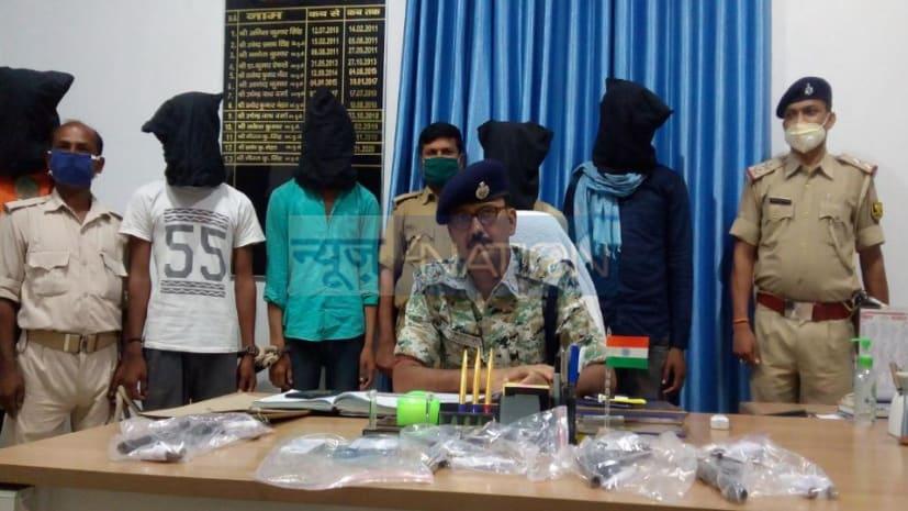 मुजफ्फरपुर पुलिस को मिली सफलता, अपराध की योजना बनाते 6 अपराधियों को दबोचा