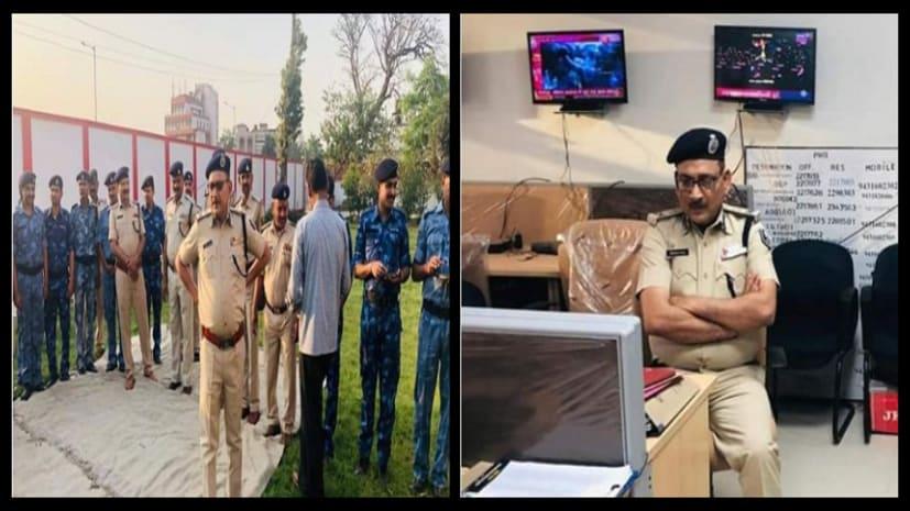 होली के दिन सुरक्षा को लेकर सजग दिखे डीजीपी, पहुंचे कंट्रोल रुम और सड़क पर निकल सुरक्षा व्यवस्था का लिया जायजा