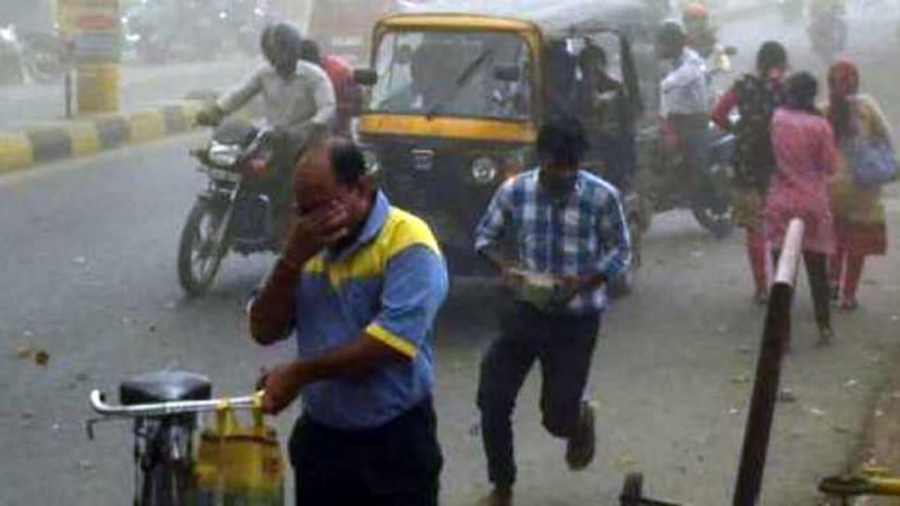 राजधानी पटना में बदला मौसम का मिजाज, तेज आंधी के साथ झमाझम हो रही है बारिश