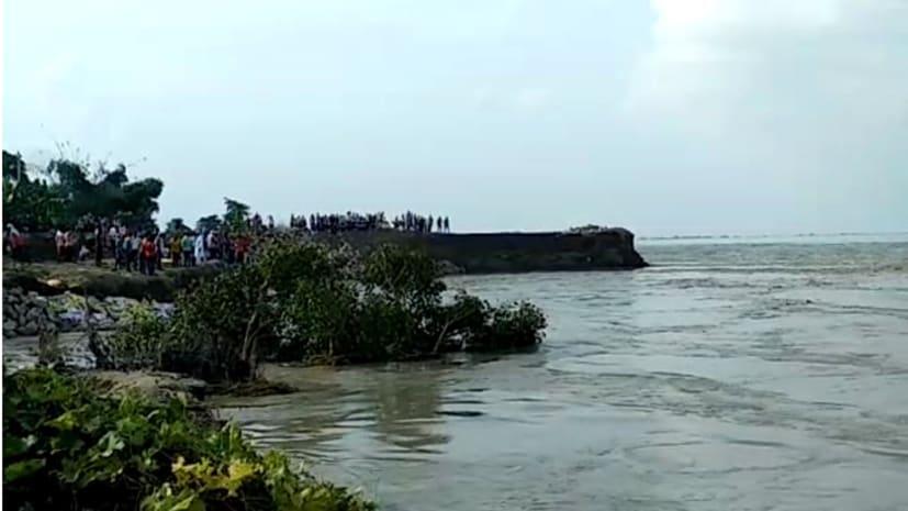 बगहा के कई इलाकों में गंडक नदी का कटाव जारी, लोग पलायन को मजबूर