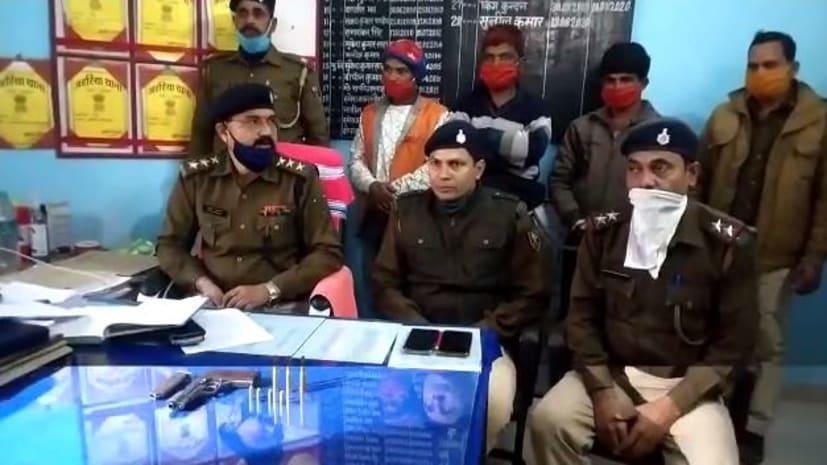 वारदात को अंजाम देने की योजना बना रहे तीन अपराधियों को हथियार के साथ पुलिस ने दबोचा