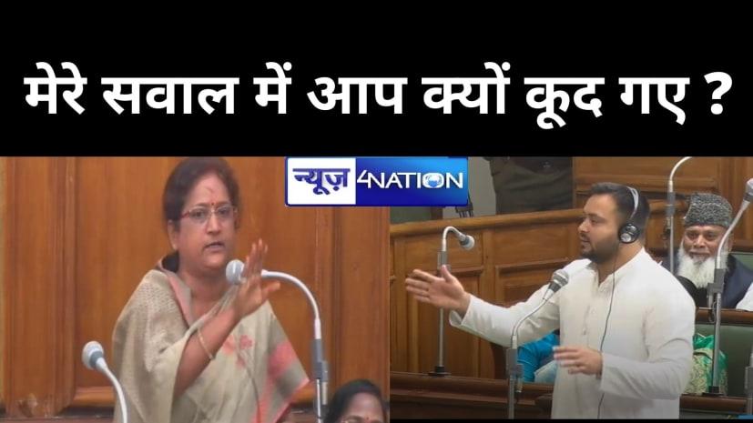 बिहार विधान सभा में महिला MLA ने तेजस्वी यादव को टोका, हमारा पर्सनल मामला है आप इसमें क्यों कूद गए? फिर....