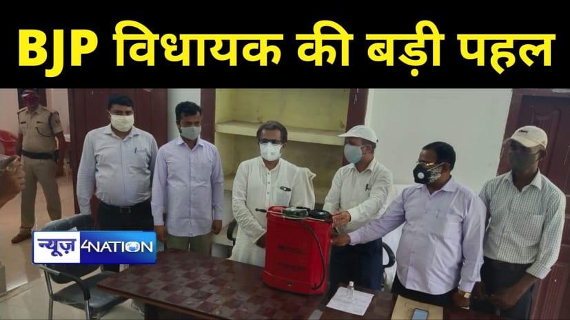 नीतीश मिश्रा की पहलः झंझारपुर विस के सभी पंचायतों व नगर पंचायत के लिए 41 सैनिटाइजेशन मशीन कराया उपलब्ध