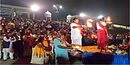 अयोध्या में राम मंदिर निर्माण की मांग को लेकर शिव सेना ने कंगन घाट पर की महाआरती