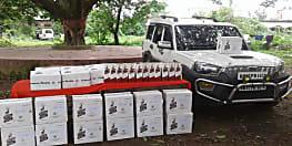 किशनगंज में वाहन जांच कर रही थी पुलिस, बरामद हुए 234 लीटर शराब
