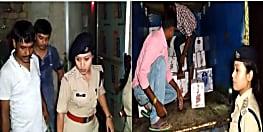 पटना में भारी मात्रा में शराब बरामद, 6 लोग गिरफ्तार, छापेमारी जारी