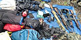 औरंगाबाद: सुरक्षा बलों के साथ मुठभेड़ में 4 नक्सली ढेर, ak-47 समेत 7 रायफल बरामद