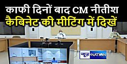 काफी दिनों बाद CM नीतीश कैबिनेट की मीटिंग में दिखे, सीएम हाउस की तरफ से जारी हुई तस्वीर