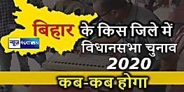 बिहार में किस विधान सभा क्षेत्र में कब होंगे चुनाव,जानिए एक-एक सीट की वोटिंग तारीख