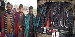 एसटीएफ के हत्थे चढ़े कुख्यात दिनेश यादव गिरोह के 3 सदस्य, भारी मात्रा में हथियार बरामद