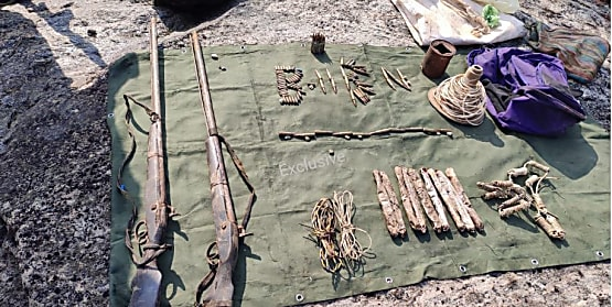 सीआरपीएफ जवानों ने नक्सलियों को दिया झटका, विस्फोटक तैयार करने की सामग्री बरामद