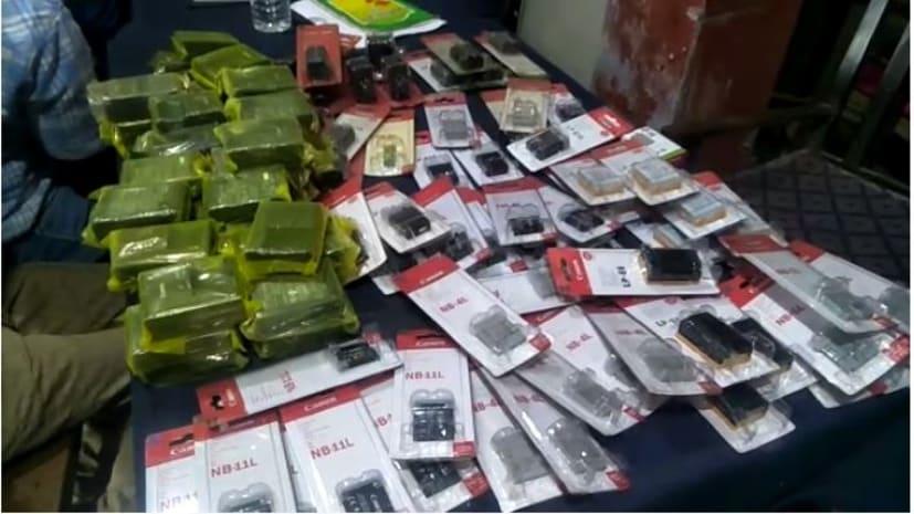 बाकरगंज में पुलिस ने की छापेमारी, कैनन कंपनी का लाखों का नकली सामान बरामद, 3 गिरफ्तार