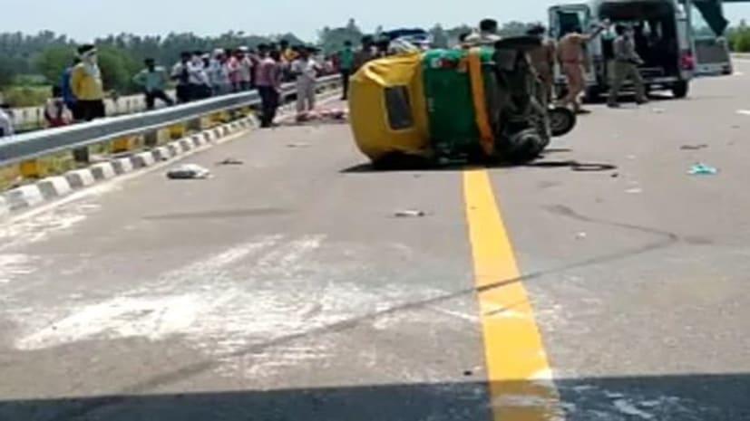दर्दनाक सड़क हादसा...दो लोगों की मौत अन्य घायल...
