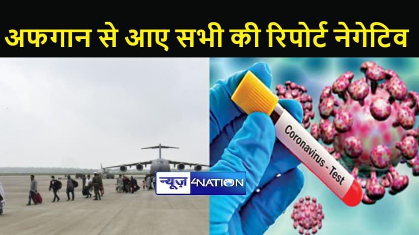 अफगानिस्तान से भारत आए 78 लोगों की कोविड रिपोर्ट आई नेगेटिव, फिर भी गाइडलाइन के तहत सभी को किया गया क्वॉरेंटाइन
