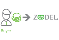 Buyer makes payment to Zoodel.com