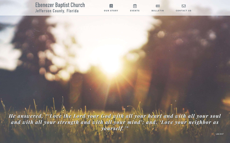 Ebenezer Baptist Church, Jefferson County Florida