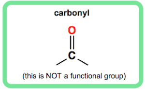 Carbonyl is not Technically a Functional Group