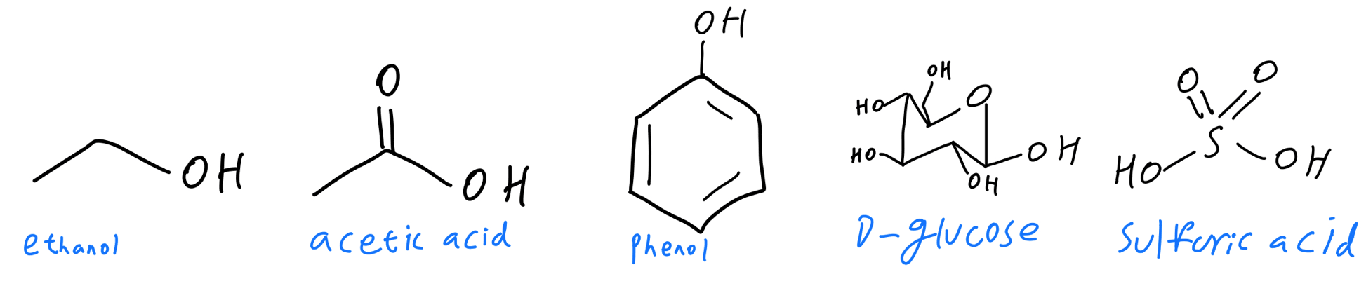 Unlabeled hydroxyl groups