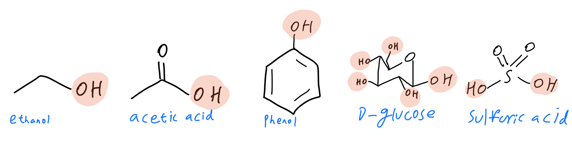 Labeled hydroxyl groups