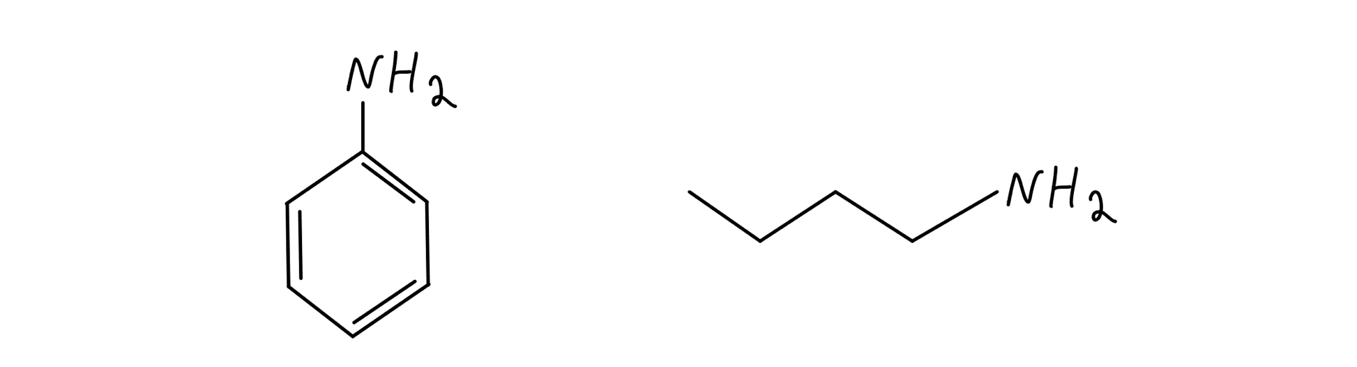 Aniline and butylamine