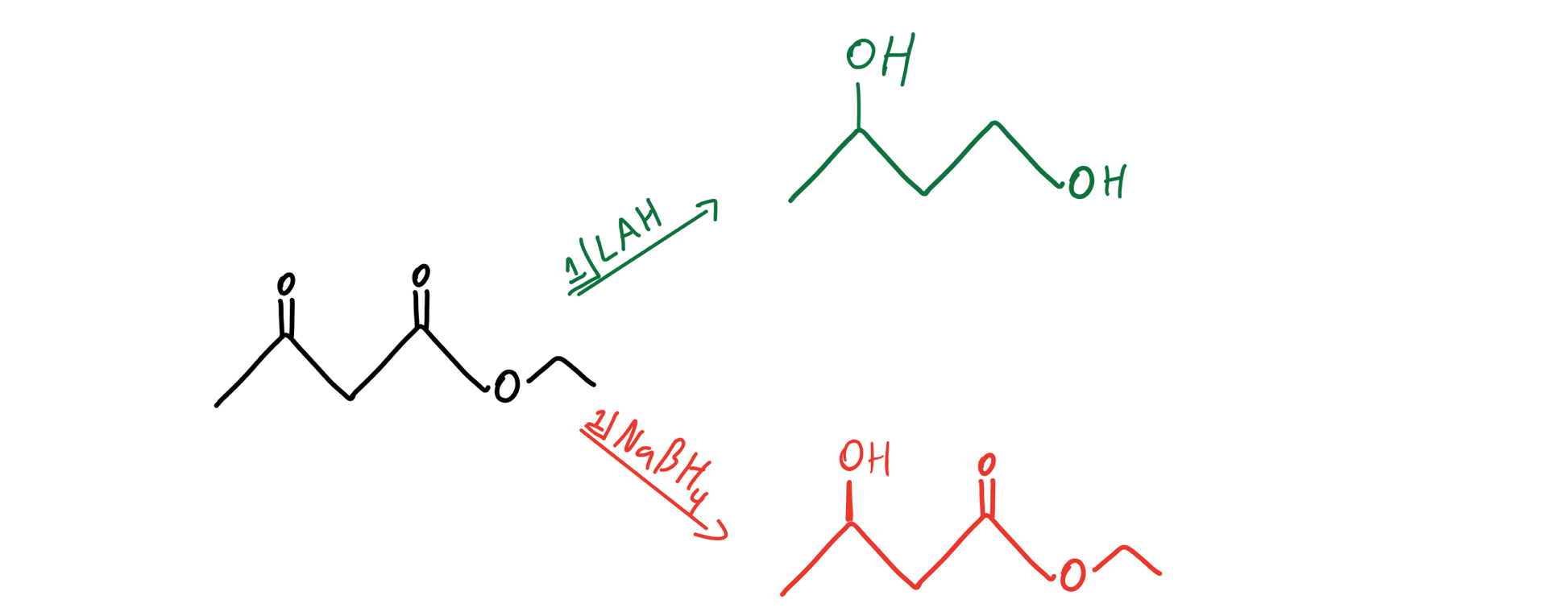 Chemoselective reduction of a beta-ketoester