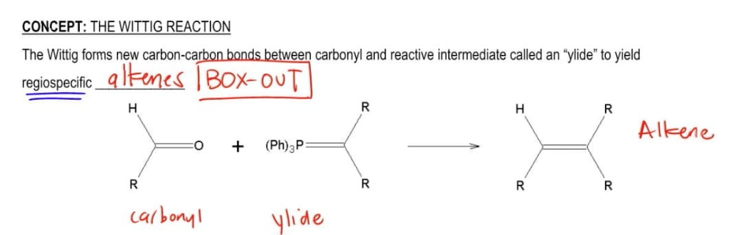 Carbonyl and ylide yield alkene