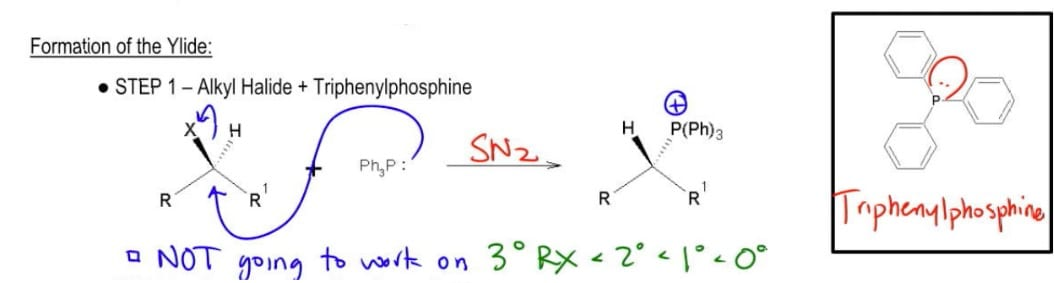 Triphenylphosphine SN2