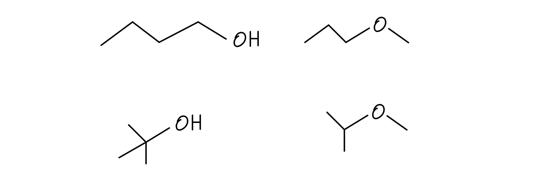 Butanol isomers