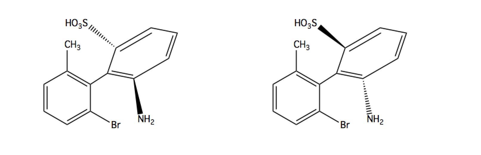 Biphenyl-atropisomers