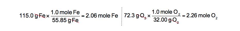 Grams-to-moles-reactants