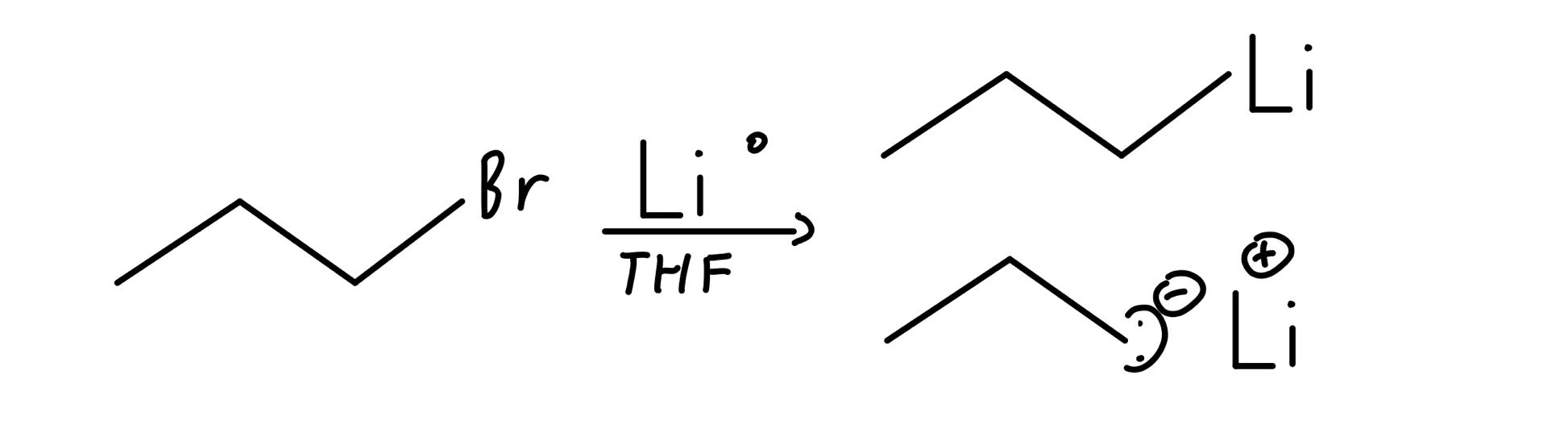Creating an organolithium