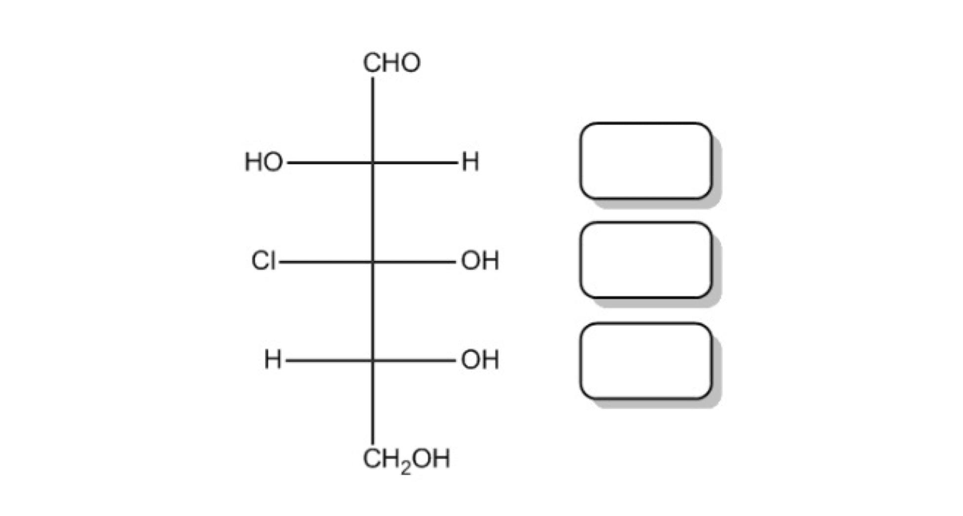 3-chloro-2,3,4,5-tetrahydroxypentanal without stereochemistry