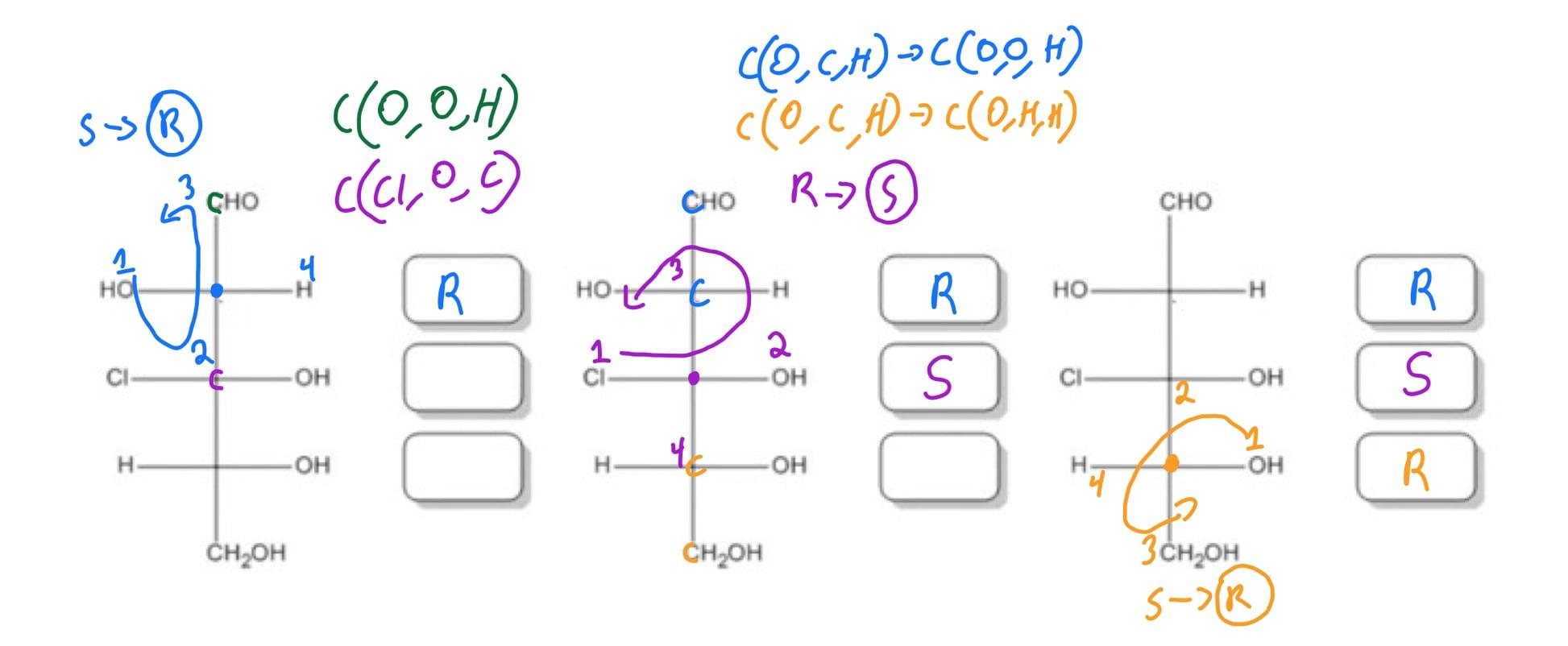 3-chloro-2,3,4,5-tetrahydroxypentanal with stereochemistry